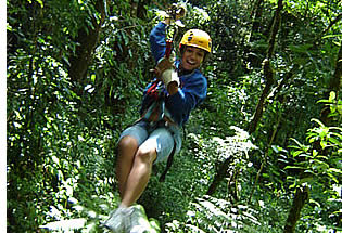 The guides and equipment used in the Zip Line Canopy Tour will ensure your saftey