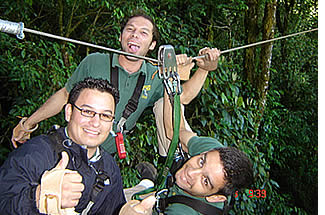 The best part of the zip line canopy tour in Boquete is the adrenaline